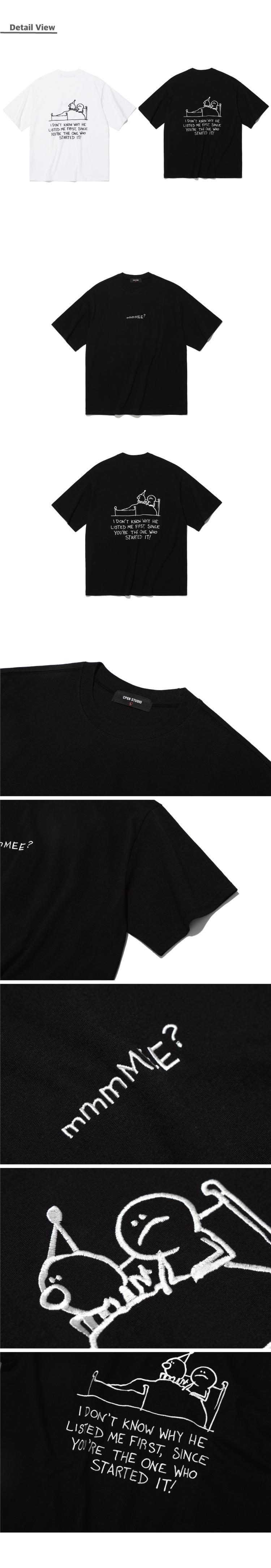 MMMM Embroidered Logo Short Sleeve Black